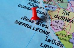 De kaart van Sierra Leone Royalty-vrije Stock Afbeeldingen