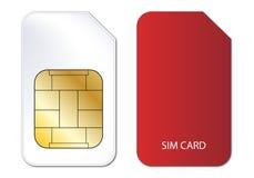 De kaart van Sim Stock Foto's