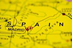 De Kaart van Spanje Stock Foto
