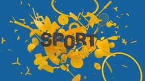 De kaart van de sportmotivatie Stock Foto's
