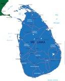 De kaart van Sri Lanka Royalty-vrije Stock Foto