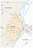 De kaart van St.Louis stock illustratie