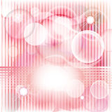 De kaart van strepen in romantisch roze Royalty-vrije Stock Foto's