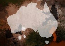 De Kaart van Styde van Grunge van Australië stock illustratie