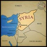 De kaart van Syrië Stock Foto's