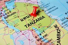 De kaart van Tanzania stock afbeelding
