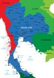 De kaart van Thailand Stock Foto's