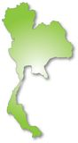 De kaart van Thailand Royalty-vrije Stock Foto's