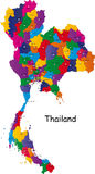 De kaart van Thailand Royalty-vrije Stock Afbeelding
