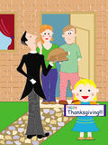 De kaart van thanksgiving day Stock Foto