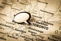 De kaart van Toronto Canada Stock Fotografie