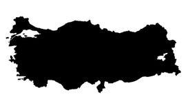DE KAART VAN TURKIJE royalty-vrije illustratie