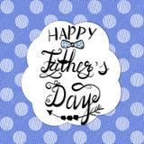 De Kaart van de vader` s Dag met het van letters voorzien inschrijving Stock Afbeelding