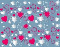 De kaart van valentijnskaarten Royalty-vrije Stock Afbeelding