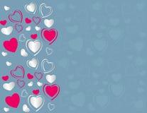 De kaart van valentijnskaarten. Stock Fotografie