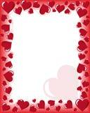 De Kaart van valentijnskaarten Stock Foto