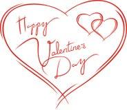 De kaart van valentijnskaarten stock fotografie