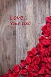 De kaart van valentijnskaarten Royalty-vrije Stock Foto
