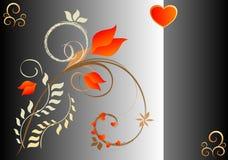 De Kaart van valentijnskaarten Royalty-vrije Stock Foto's