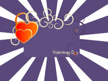 De Kaart van valentijnskaarten Royalty-vrije Stock Afbeeldingen