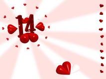De kaart van valentijnskaarten Stock Afbeeldingen