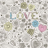 De kaart van Valentine met bloemen. Royalty-vrije Stock Foto