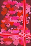 De kaart van Valentine met een boog. Vector. Royalty-vrije Illustratie
