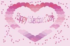 De kaart van Valentine. Vectorillustratie. Royalty-vrije Illustratie