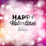 De kaart van vector Gelukkig Valentine Royalty-vrije Stock Fotografie