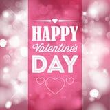 De kaart van vector Gelukkig Valentine Stock Afbeelding