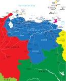 De kaart van Venezuela Stock Fotografie