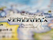 De Kaart van Venezuela Stock Foto