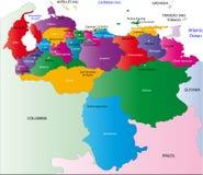 De kaart van Venezuela Royalty-vrije Stock Afbeelding
