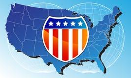 De Kaart van Verenigde Staten Royalty-vrije Stock Fotografie