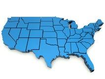 De Kaart van Verenigde Staten Royalty-vrije Stock Foto
