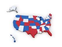 De Kaart van Verenigde Staten Royalty-vrije Stock Foto's