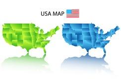 De kaart van Verenigde Staten Stock Foto's