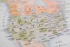 De Kaart van Verenigde Staten stock afbeeldingen