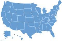 De kaart van Verenigde Staten