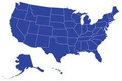 De Kaart van Verenigde Staten Royalty-vrije Stock Afbeeldingen