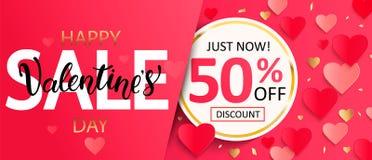 De kaart van de de verkoopgift van de valentijnskaartendag vector illustratie