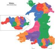 De kaart van Wales Royalty-vrije Stock Foto's