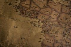 De kaart van de wereld` s originele kleur, toen Mercator in ab werd onderzocht royalty-vrije stock fotografie
