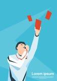 De Kaart van Whistle Show Red van de voetbalscheidsrechter Stock Foto's