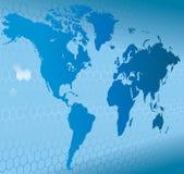 De Kaart van Word van de bol van de Achtergrond van de Aarde Stock Fotografie