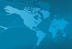 De Kaart van Word van de bol van de Achtergrond van de Aarde Royalty-vrije Stock Afbeelding