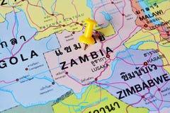 De kaart van Zambia Stock Foto