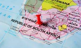 De kaart van Zuid-Afrika Royalty-vrije Stock Afbeeldingen