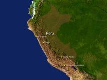 De kaart van Zuid-Amerika Royalty-vrije Stock Afbeeldingen