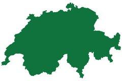 De Kaart van Zwitserland Stock Afbeelding